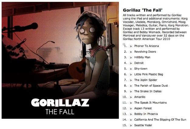 iPad-Produktion: Gorillaz veröffentlichen The Fall